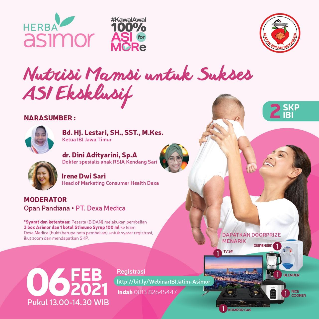 Feature Image Ikatan Bidan Indonesia dan Herba ASIMOR Dukung ASI Eksklusif Asimor ASI Booster Pelancar ASI