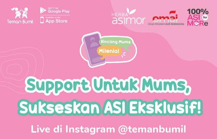 Feature Image Support Untuk Mums, Sukseskan ASI Eksklusif! Asimor ASI Booster Pelancar ASI