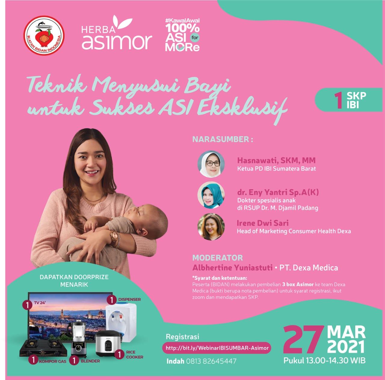 Image for Webinar Asimor : Teknik Menyusui Bayi untuk Sukses ASI Eksklusif Asimor ASI Booster Pelancar ASI